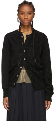 Junya Watanabe Black Wool and Mohair Cardigan