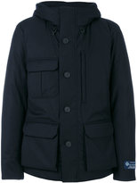 Woolrich hooded coat - men - Silk/Feather Down/Polyamide/Feather - M