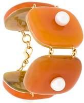 Marni faux pearl-embellished cuff bracelet