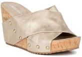 Antelope Metallic Crisscross Wedge Sandal