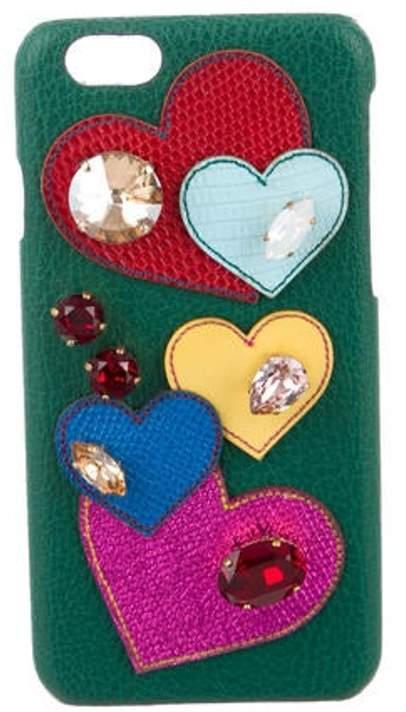 Dolce & Gabbana Heart iPhone 6G Case w/ Tags Green Heart iPhone 6G Case w/ Tags
