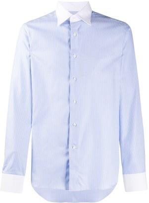 Canali Contrast Collar Shirt