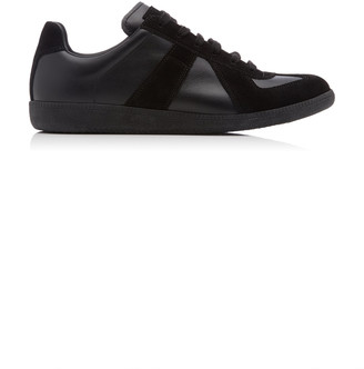 Maison Margiela Replica Suede-Paneled Low-Top Sneakers