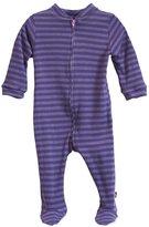 City Threads Soft Stripe Footie - Purple-3T