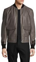 Maison Margiela Leather Bomber Jacket