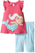 Mud Pie Mermaid Tunic Capris Set Girl's Active Sets