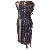 Roberto Cavalli Purple Silk Dress for Women