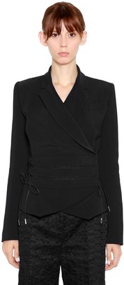 Antonio Berardi Wrap Cady Jacket With Ties
