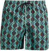 LE SIRENUSE, POSITANO Waterfall Bordeaux-print swim shorts