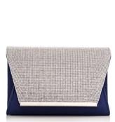 Quiz Envelope Clutch Bag With Diamante Flap