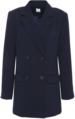 Iris & Ink Fiona Double-breasted Crepe Blazer