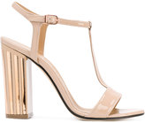 Marc Ellis - metallic detail T-strap sandals - women - Leather - 36