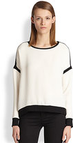 Generation Love Contrast-Trimmed Dolman-Sleeved Sweater