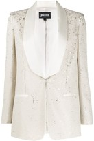 Just Cavalli shawl-lapel sequin blazer