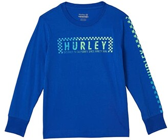 Hurley Long Sleeve Graphic T-Shirt (Little Kids) (Game Roal) Boy's Clothing