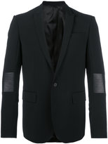 Les Hommes classic blazer - men - Leather/Polyester/Spandex/Elastane/Virgin Wool - 50