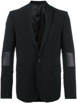 Les Hommes classic blazer - men - Polyester/Spandex/Elastane/Virgin Wool/Leather - 50