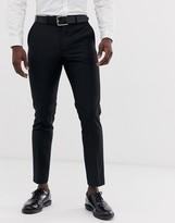 French Connection slim fit plain suit trousers-Black