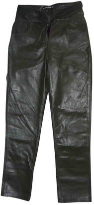 Y/Project Green Leather Trousers