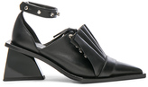 Marques Almeida Marques ' Almeida Pointy Frill Lace Up Leather Shoes