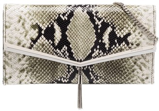 Jimmy Choo Elish snakeskin effect clutch bag
