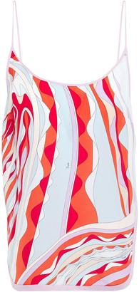 Emilio Pucci Split-side Printed Silk Crepe De Chine Camisole