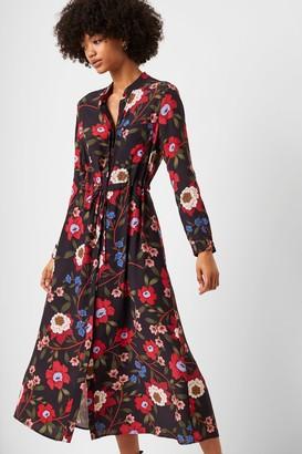French Connenction Eloise Drape Midi Shirt Dress