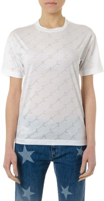 Stella McCartney Logoed White Cotton T-shirt