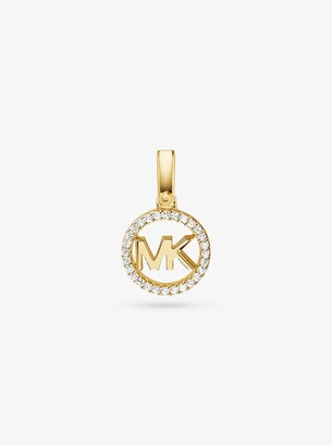 Michael Kors Precious Metal-Plated Sterling Silver Pave Logo Charm