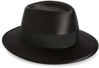 Saint Laurent Satin & Wool Felt Fedora