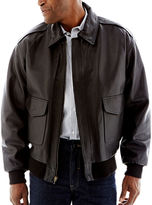 JCPenney Excelled Leather Flight Jacket