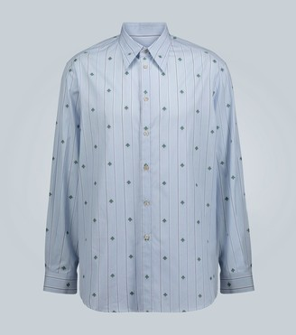 Gucci Bee pinstriped classic shirt