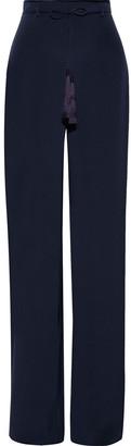 Cushnie Tasseled Silk Crepe De Chine Wide-leg Pants