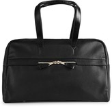 Reiss BOURNEMOUTH TEXTURED LEATHER HOLDALL Black