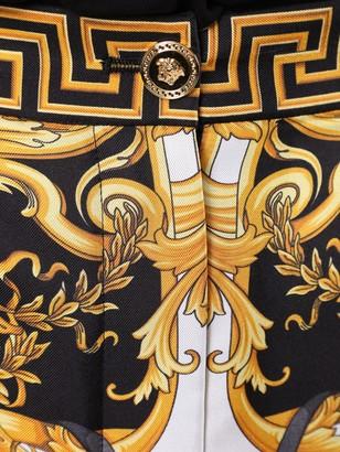 Multicolored Silk Barocco Print Shorts