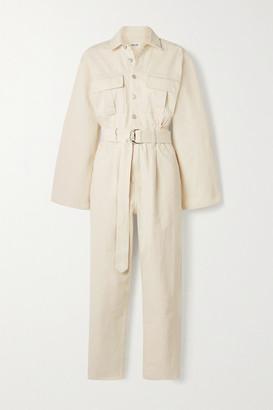 AGOLDE Tatum Belted Denim Jumpsuit - White