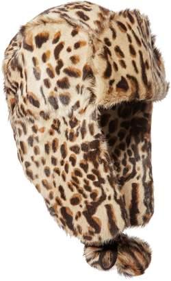 Eric Javits Meow Trooper Genuine Goat Fur Trapper Hat