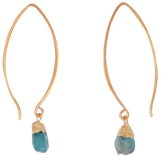 Bronwen Gemstone Nugget Earrings Long
