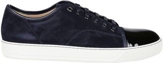 Lanvin Midnight Blue Suede Sneakers