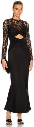 Rasario Cutout Maxi Dress in Black   FWRD