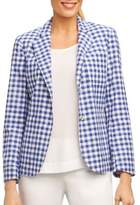 Foxcroft Check Cotton Jacket