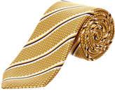 Canali Gold Silk Tie