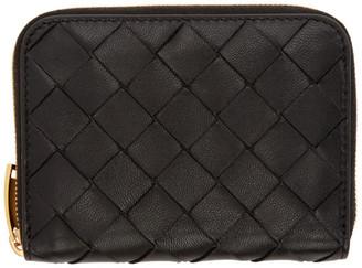 Bottega Veneta Black Mini Intrecciato Continental Wallet