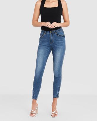 Forcast Nova High Rise Zip Jeans
