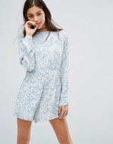 Motel Molly Playsuit In Paisley Print