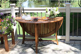 OUTDOOR INTERIORS Outdoor Interiors 48 in. Round Brazilian Eucalyptus Folding Table