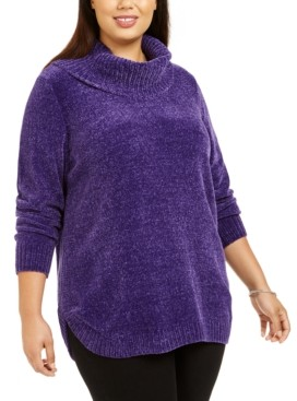 Style&Co. Style & Co Plus Size Cowl-Neck Chenille Sweater, Created For Macy's