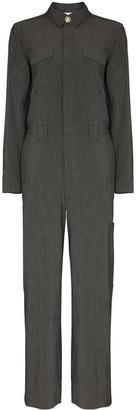 Ganni Tailored Cut Bejewelled Button Jumpsuit