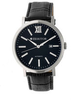 Heritor Bristol Mens Black Strap Watch-Herhr5306