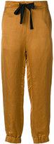 Ann Demeulemeester cuffed ribbon trousers - women - Linen/Flax/Silk/Cotton/Rayon - 34